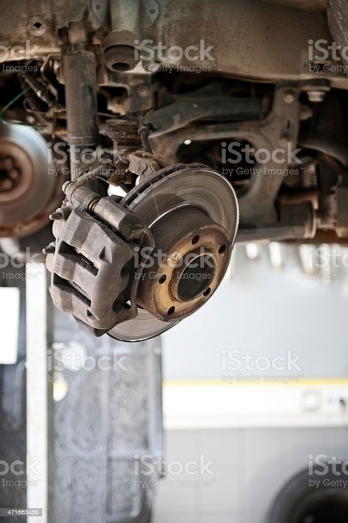 Removal of the old brake royalty-free stock photo