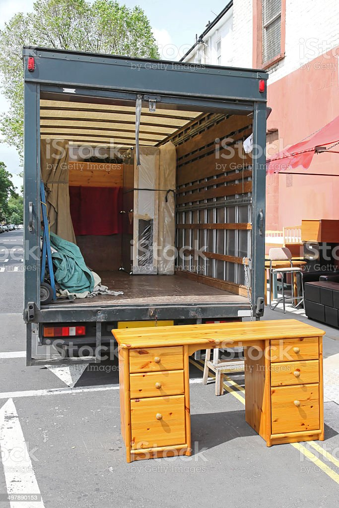 Removal truck stock photo