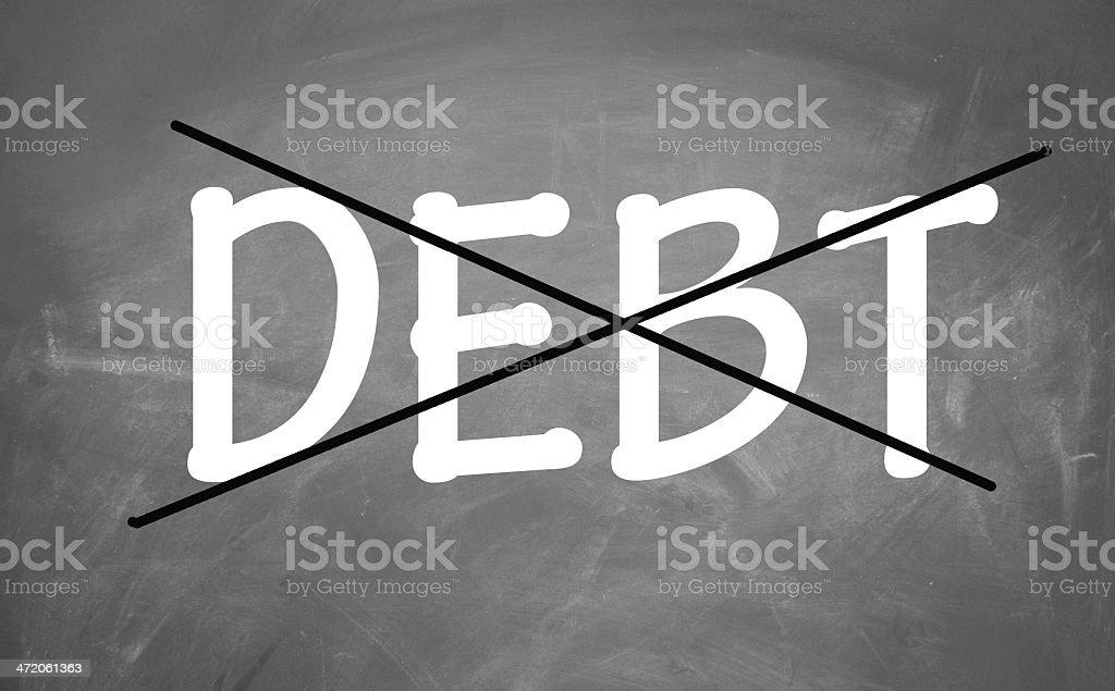 remove debt sign stock photo