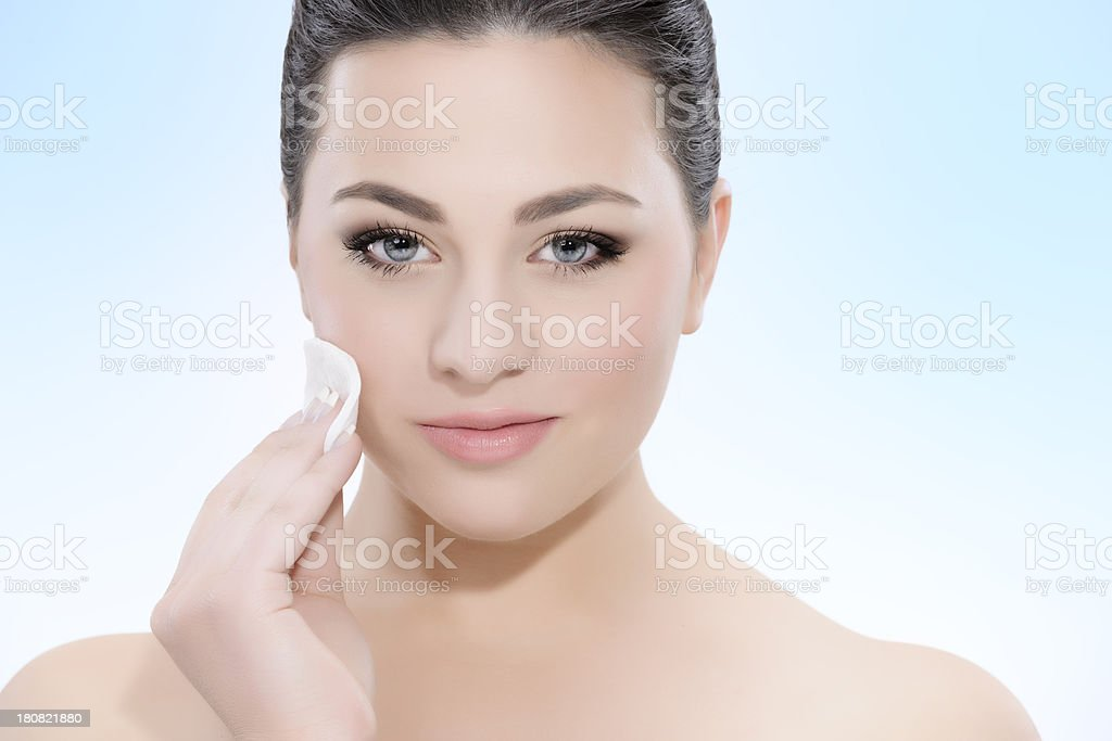 remove make up beauty royalty-free stock photo