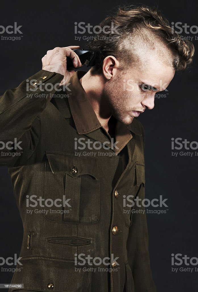 Removing every trace of identity royalty-free stock photo
