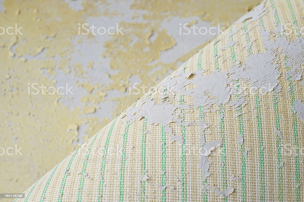 Removing old carpet royalty-free stock photo