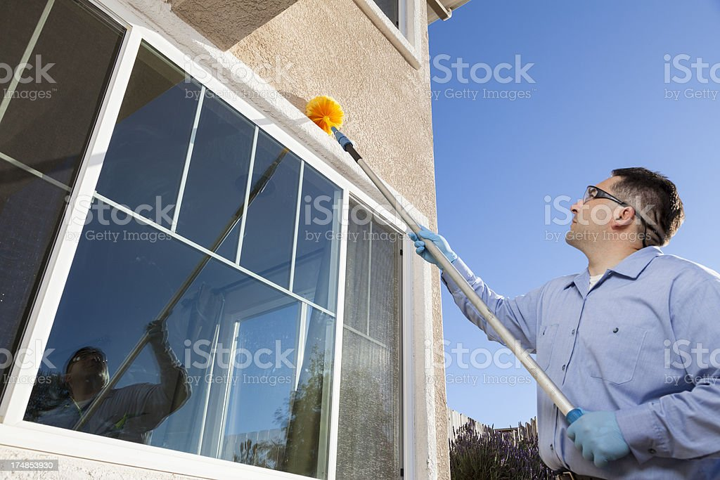 Removing Spider Webs stock photo
