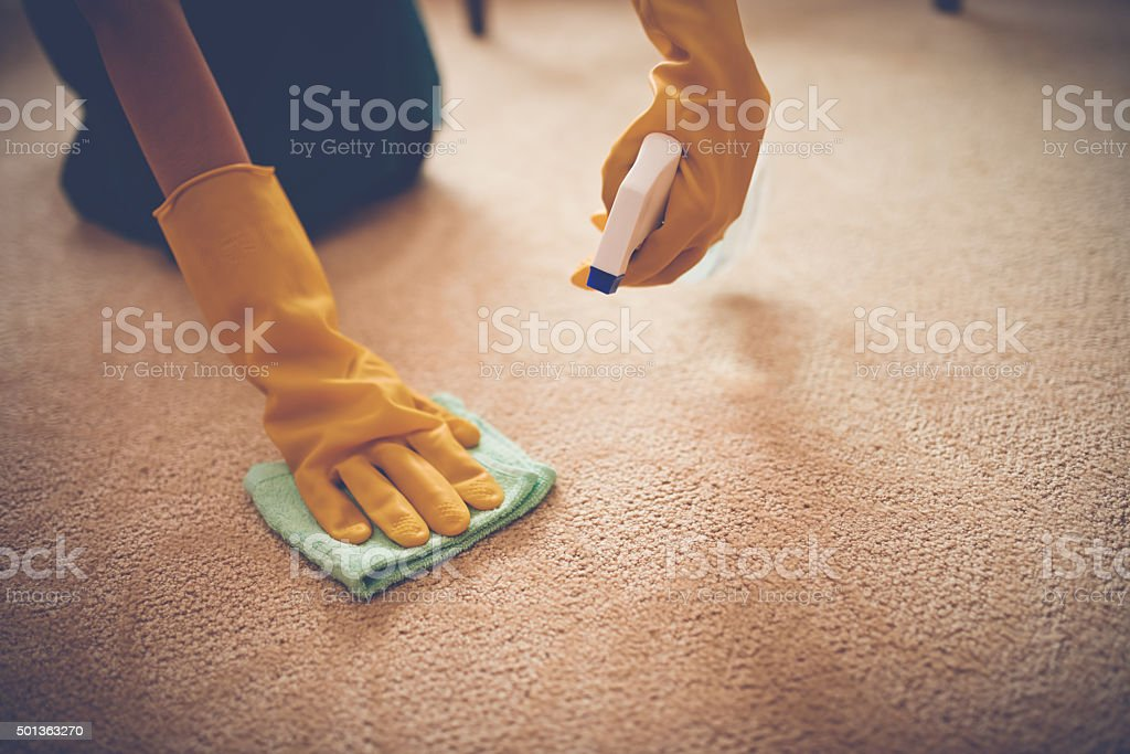 Removing stain stock photo