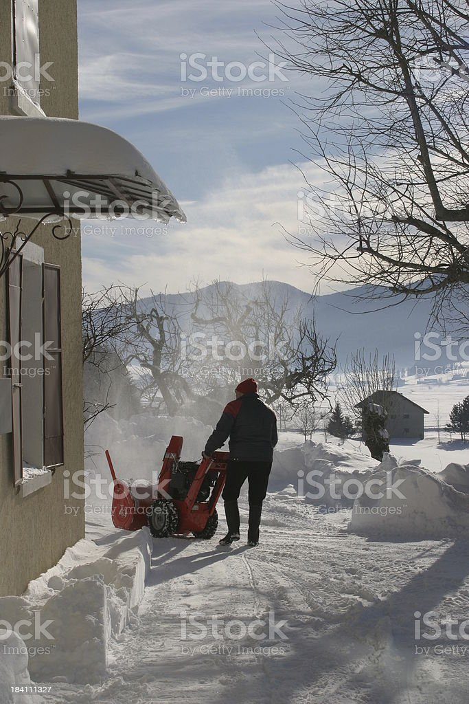removing the snow royalty-free stock photo