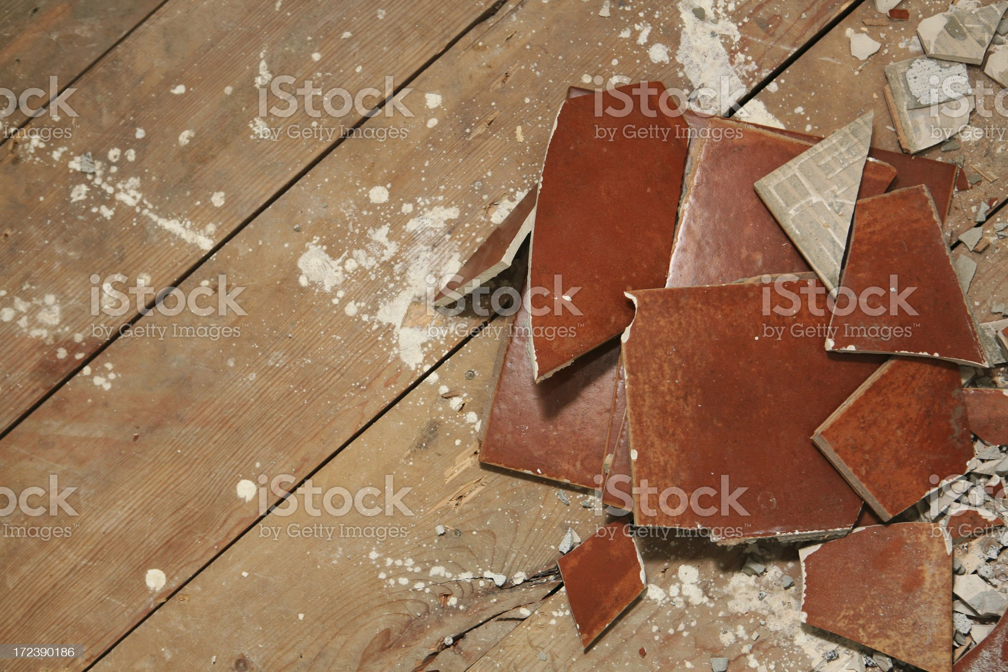 Removing Tile Floor royalty-free stock photo