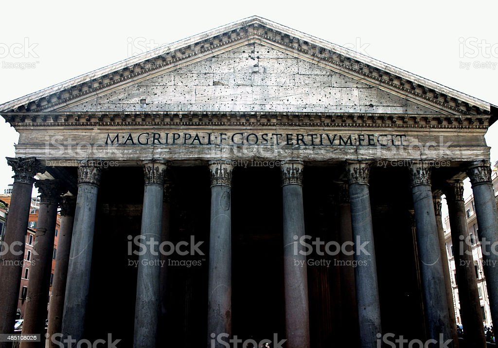 Remple Pantheon in Rome stock photo