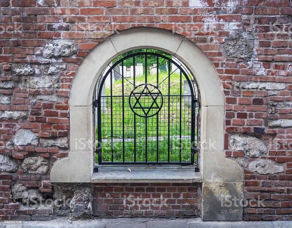 Remuh Jewish Cemetery in Krakow, Poland stock photo