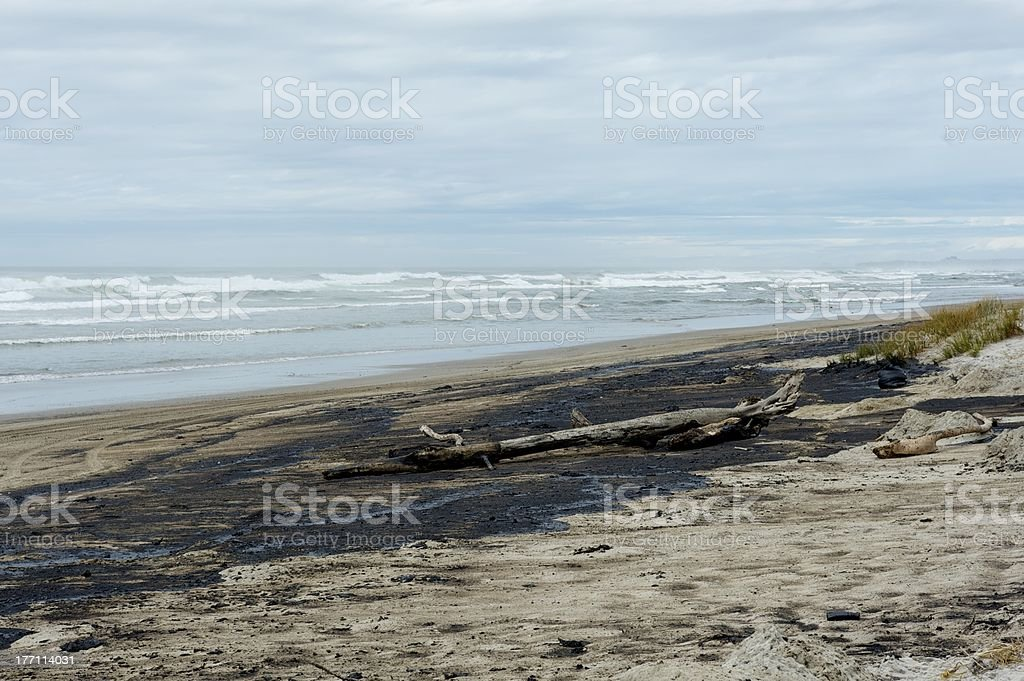 Rena oil spill royalty-free stock photo