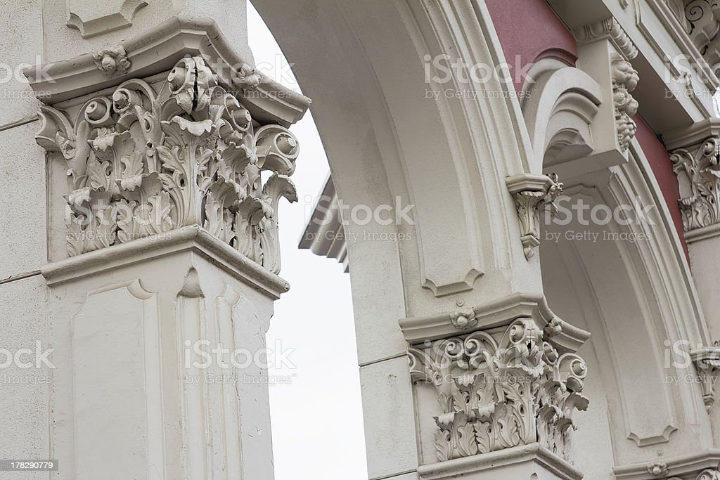 Renaissance Architectural Column and Archway royalty-free stock photo
