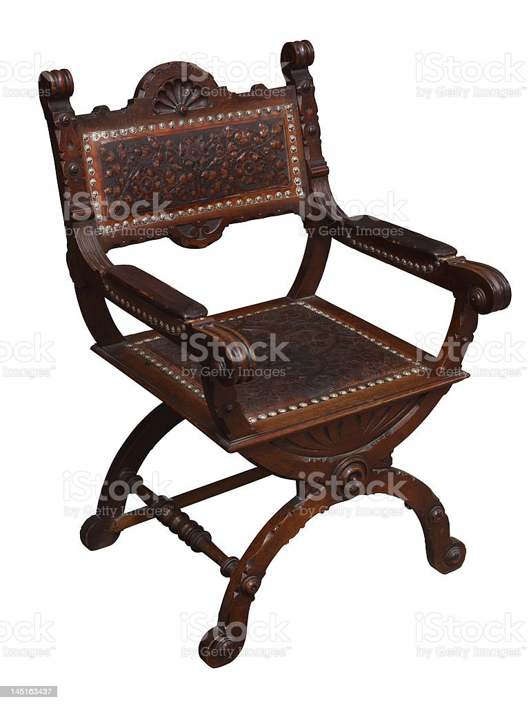 Renaissance armchair royalty-free stock photo