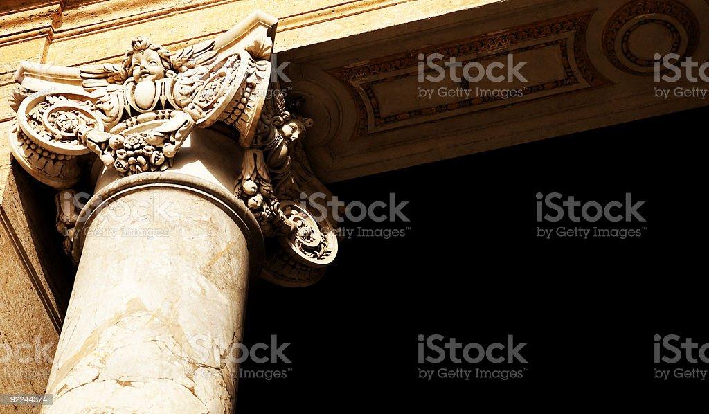 Renaissance Column. royalty-free stock photo