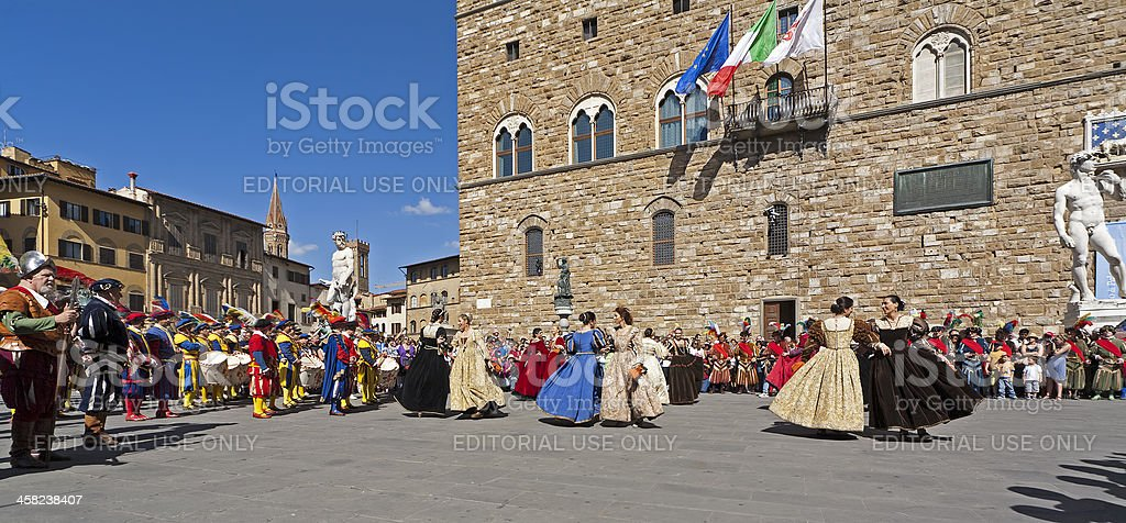 Renaissance dance royalty-free stock photo