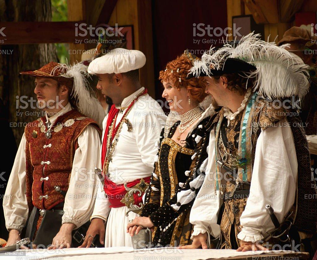 renaissance festival stock photo