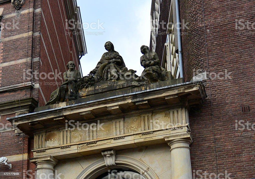 renaissance gate statue royalty-free stock photo