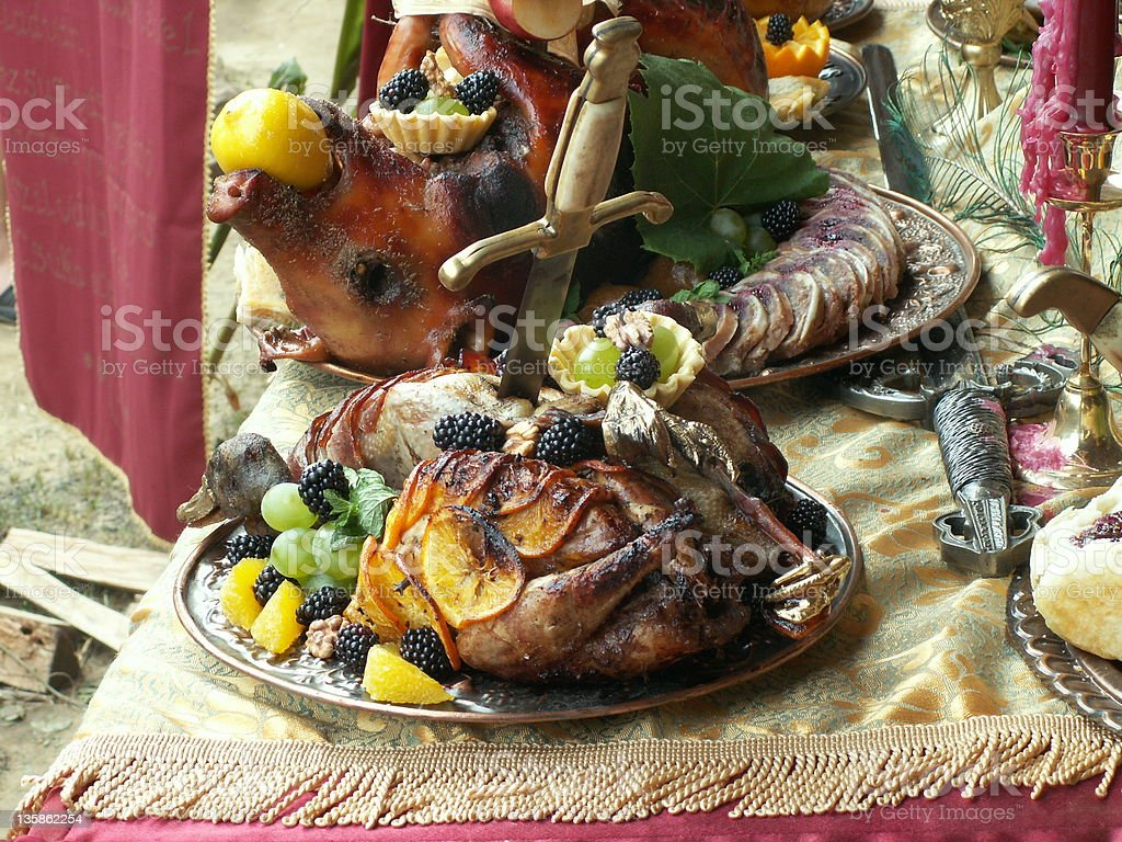 Renaissance hungarian dish stock photo