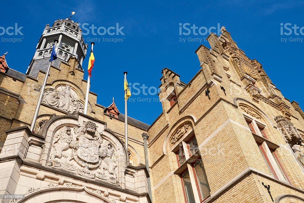 Renaissance Style Bulding in Ypres stock photo