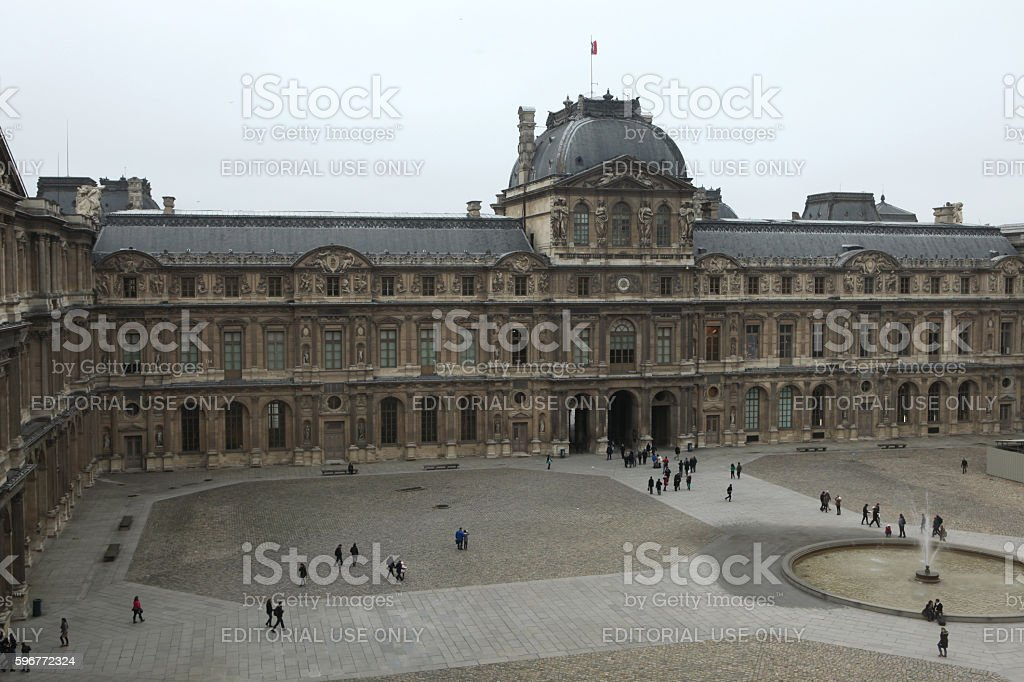 Renaissance wing of the Louvre Museum in Paris, France. stock photo