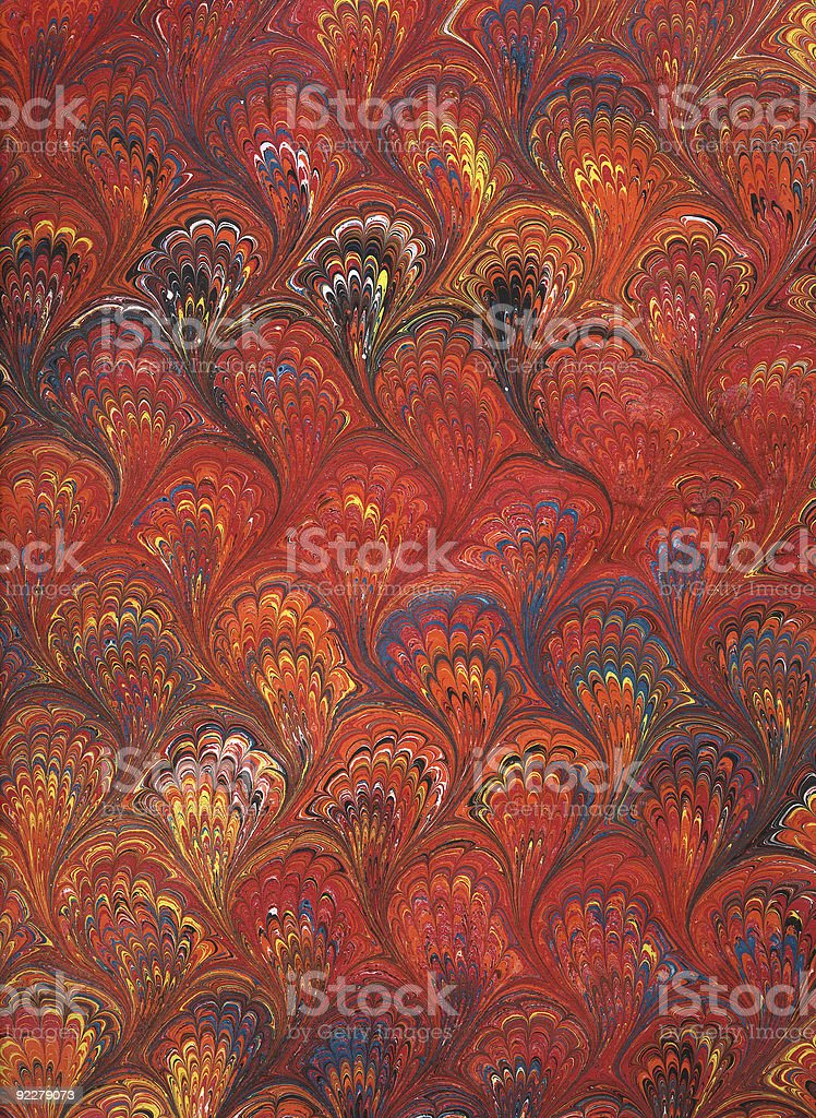 Renaissance/Victorian Marbled Paper 6 royalty-free stock photo