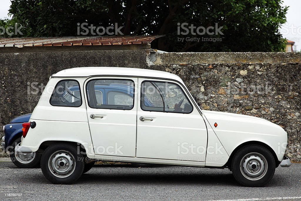 Renault 4, Profile. Color Image royalty-free stock photo