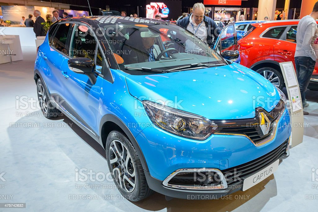 Renault Captur compact SUV car front view stock photo
