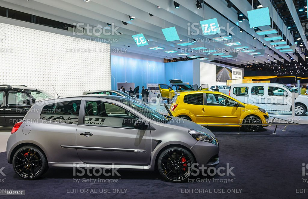 Renault Clio and Twingo royalty-free stock photo