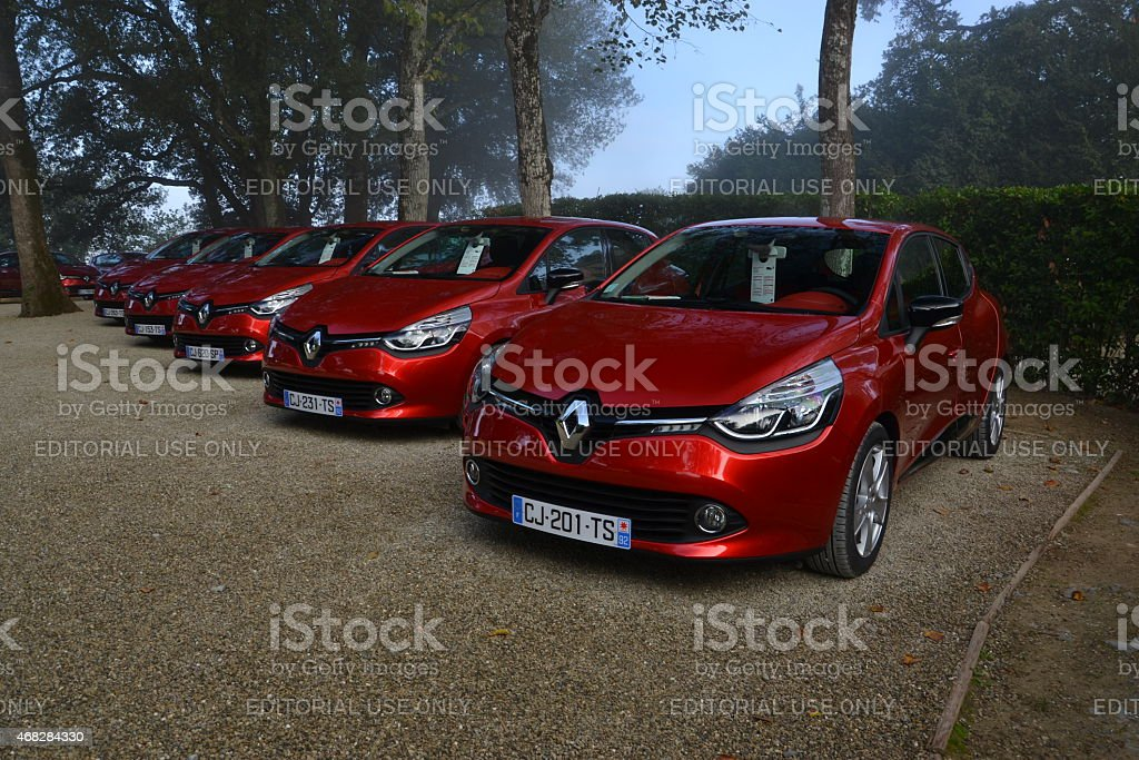 Renault Clio at the press launch stock photo