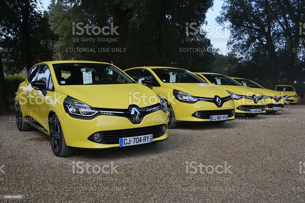 Renault Clio on the parking stock photo