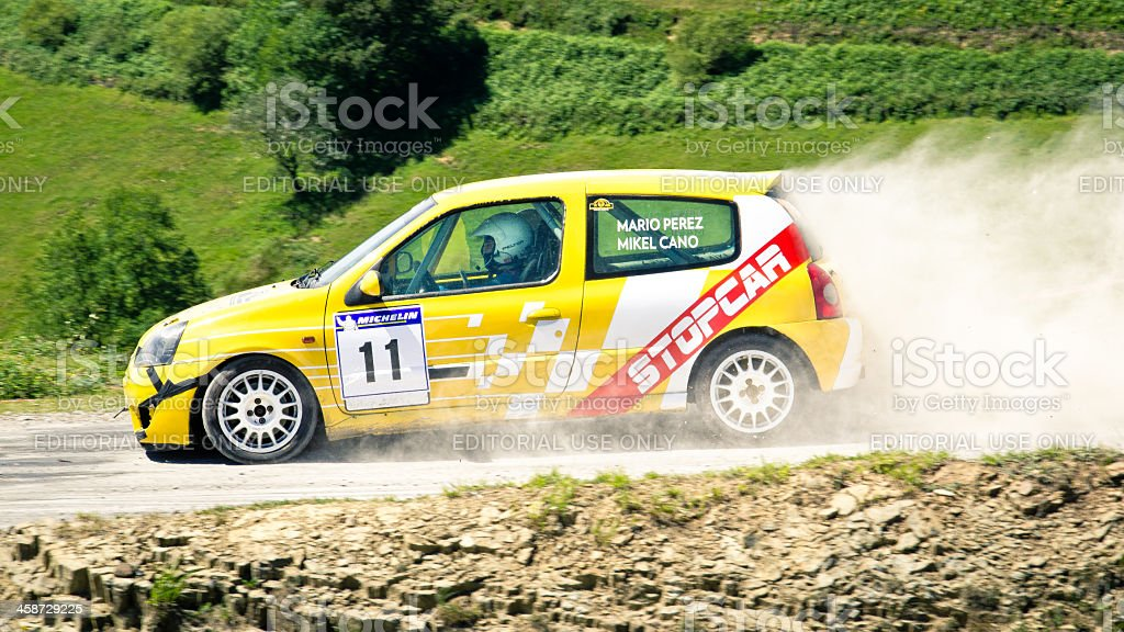 Renault Clio Rally Car royalty-free stock photo