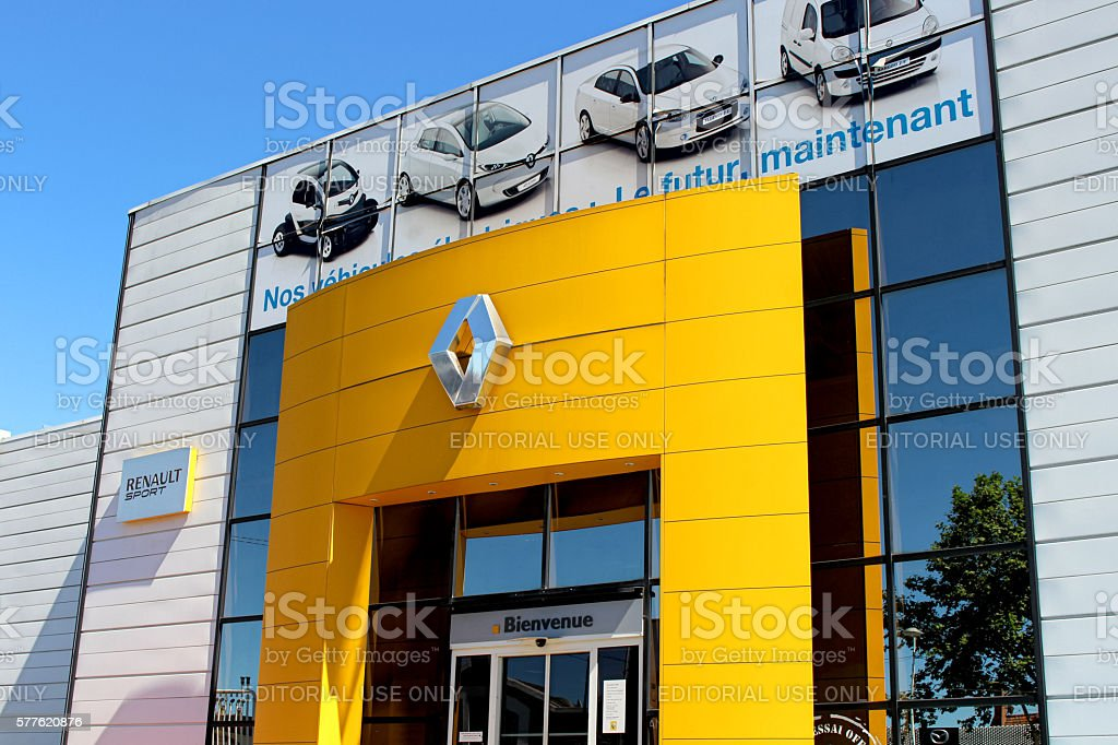 Renault delearship stock photo