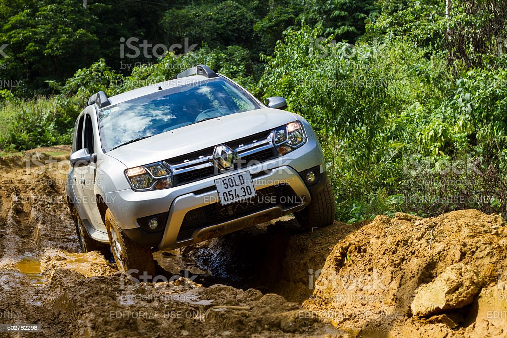 Renault Duster 4x4 AT car stock photo