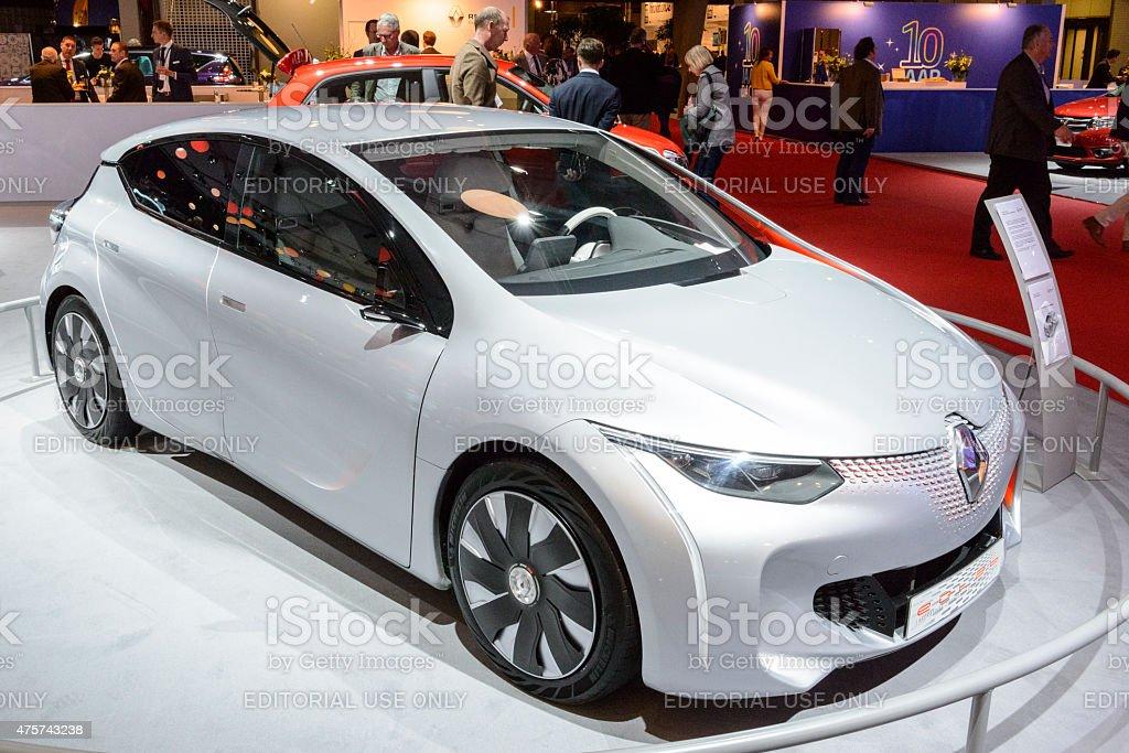 Renault Eolab plug-in hybrid concept car stock photo