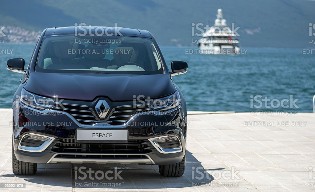 Renault Espace 2016 at pier stock photo