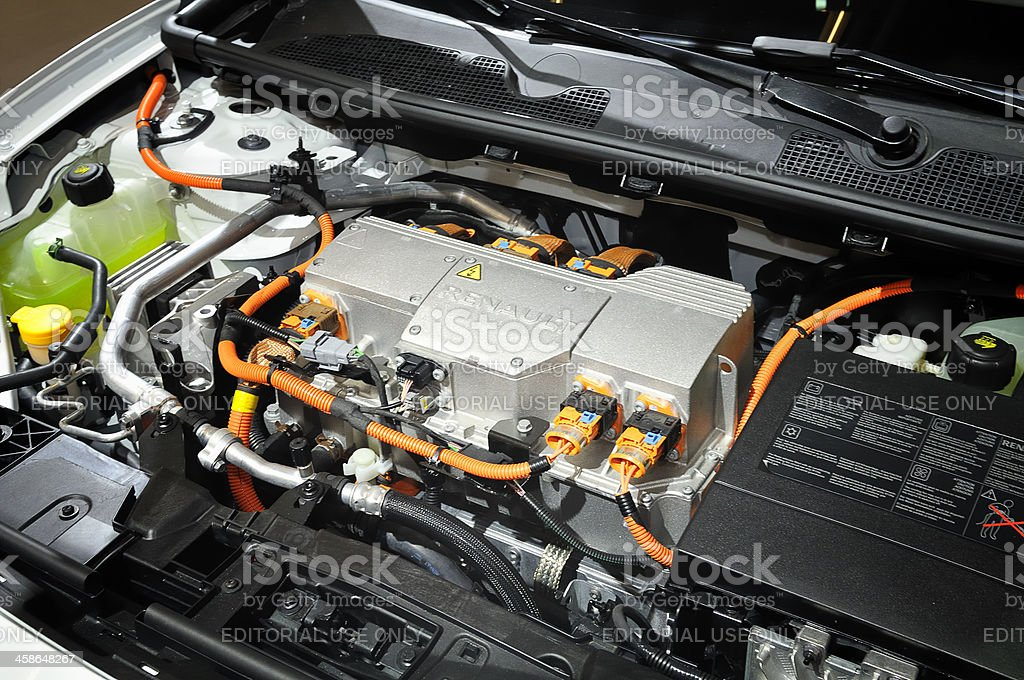 Renault Fluence engine stock photo