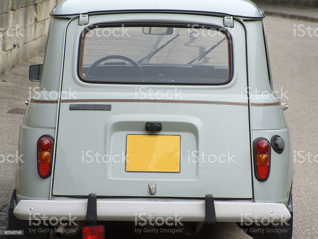 Renault Four Back royalty-free stock photo