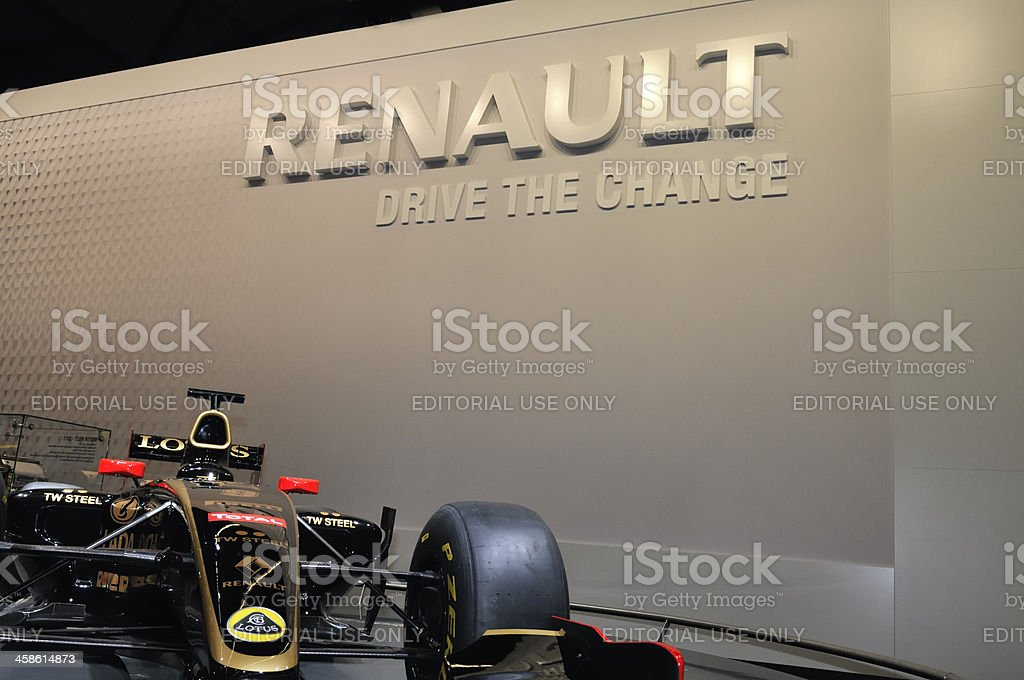 Renault Lotus F1 race car at a motor show stock photo