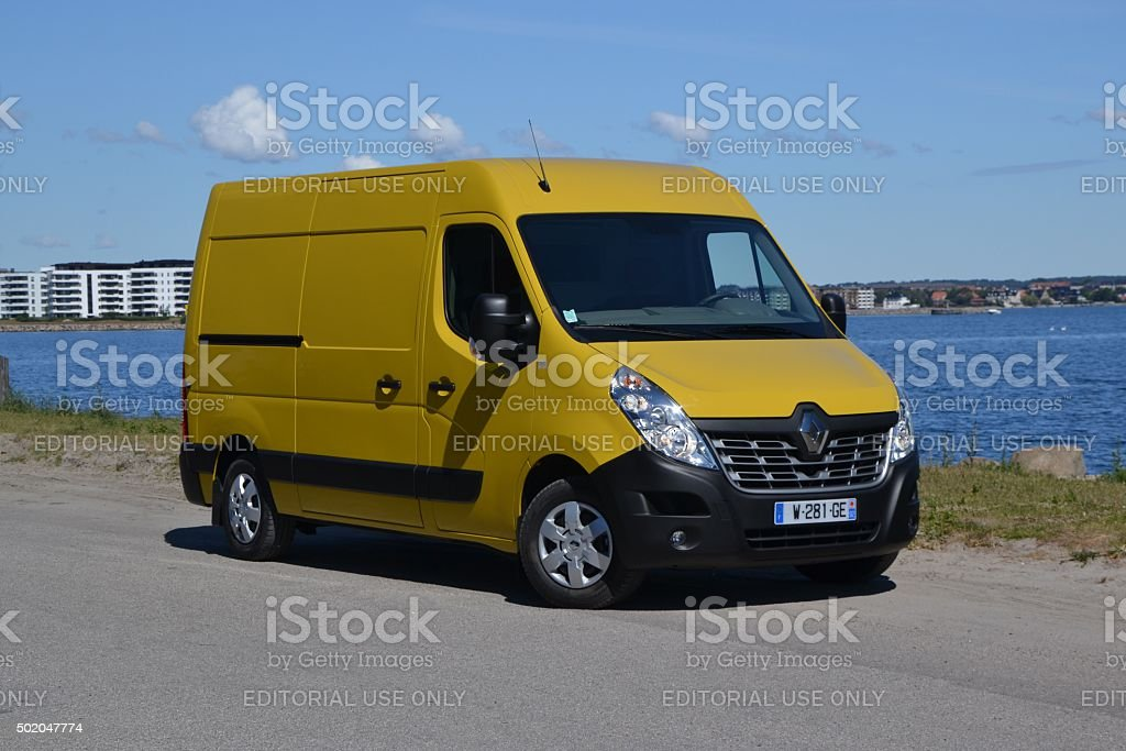 Renault Master on the parking stock photo