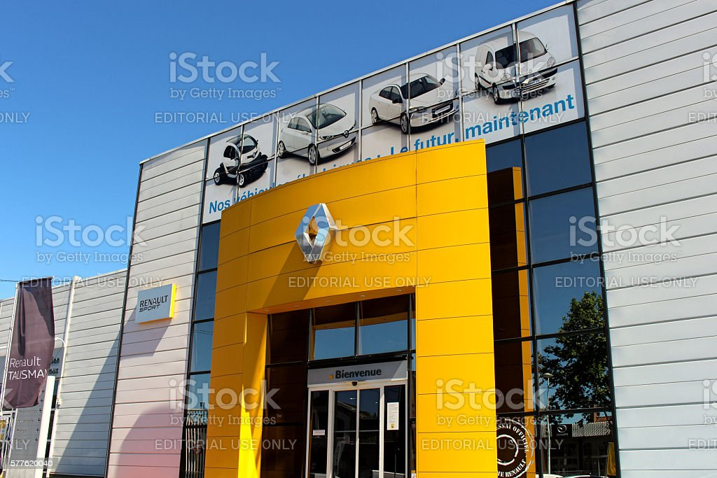 Renault store stock photo