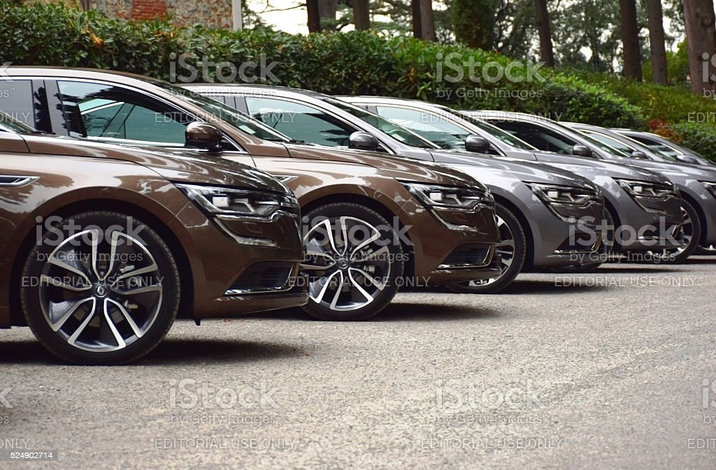 Renault Talisman cars on the parking stock photo