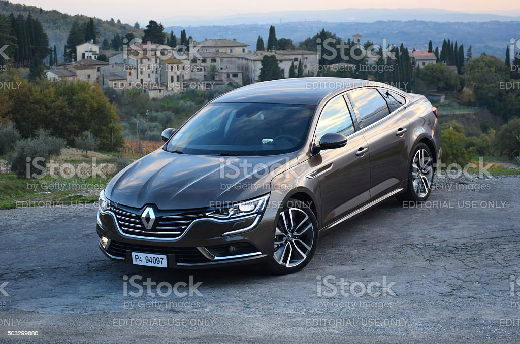 Renault Talisman stopped on the road stock photo