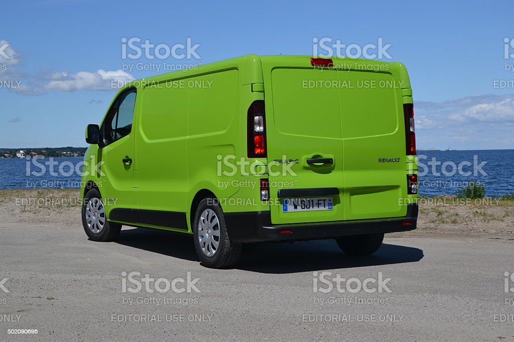 Renault Trafic at the international press launch stock photo