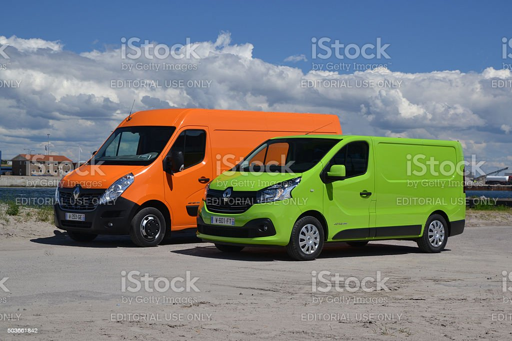 Renault Trafic nad Master at the international press launch stock photo