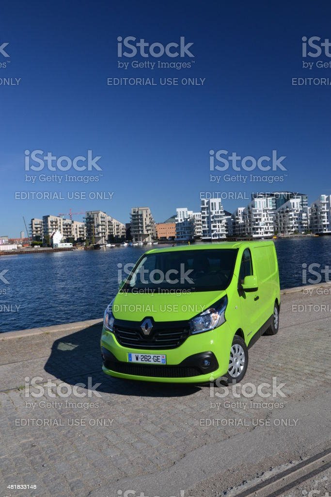 Renault Trafic on the street stock photo