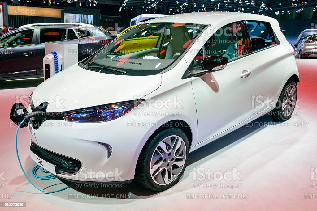 Renault Zoe electric compact car stock photo