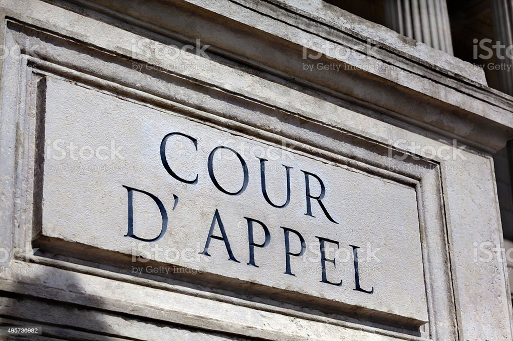 rench Court of Appeal stock photo