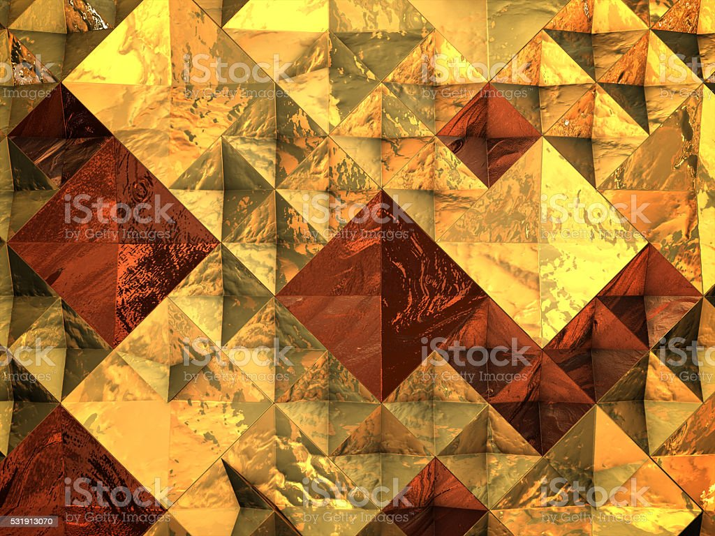 3D render ,Abstract metallic geometric polygon background royalty-free stock photo
