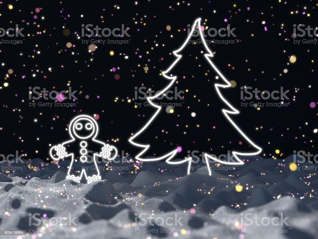 3D render Christmas art royalty-free stock photo