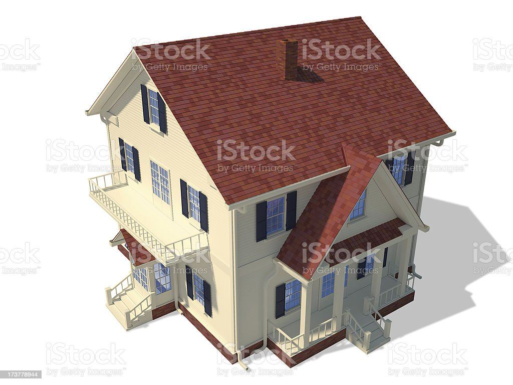Render home exterior royalty-free stock photo