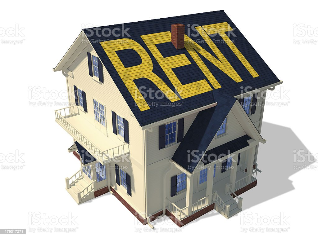 Render home exterior(Rent) royalty-free stock photo