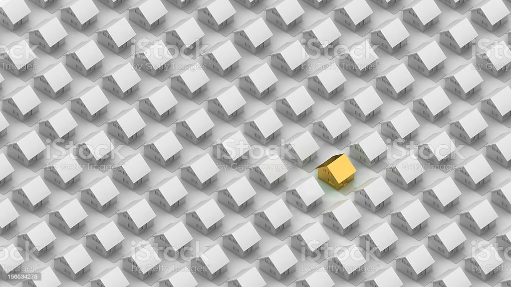 Render of a gold house royalty-free stock photo